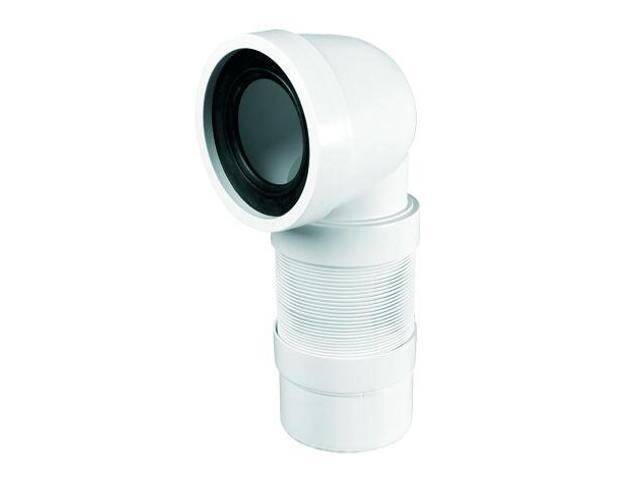 Złącze do WC harmonijkowe 270-540mm 90-110/110mm/90° (WC-CON9F) McAlpine