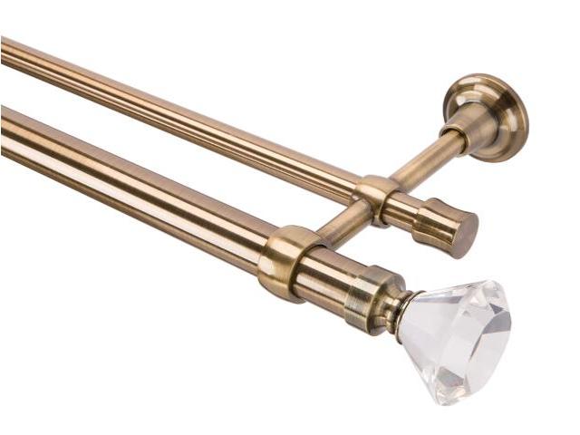 Karnisz Tende Crystal podwójny 28/19mm kielich antyczny mosiądz 200 Mardom