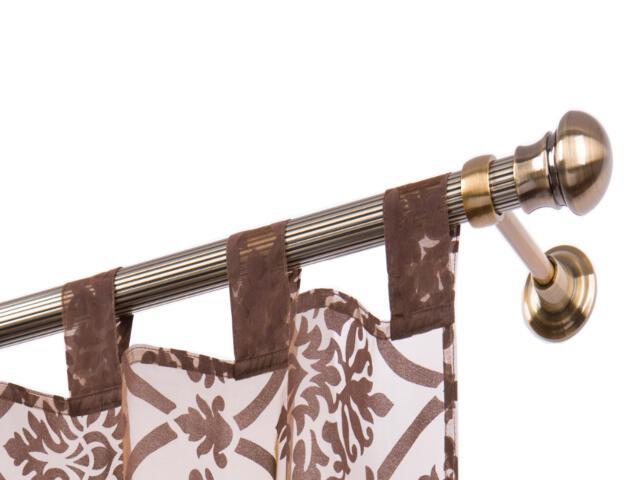 Karnisz Tende ryflowany pojedynczy 28mm antyczny mosiądz 160 Mardom