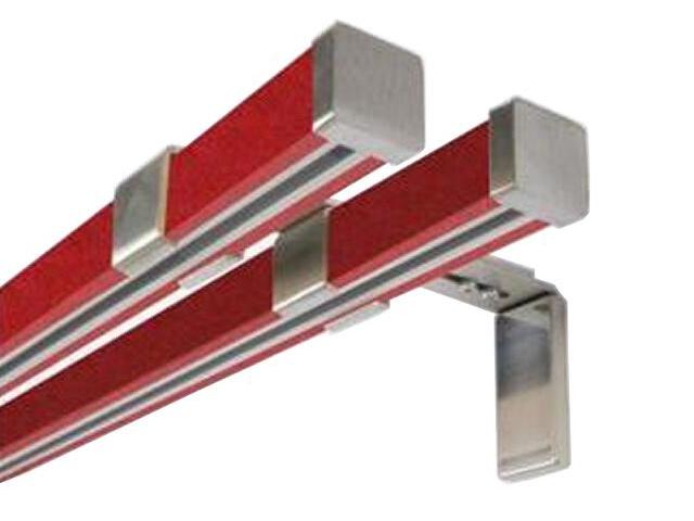Karnisz Cuadro podwójny efekt stali czerwony 160 Mardom
