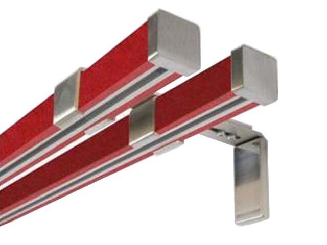 Karnisz Cuadro podwójny efekt stali czerwony 240 Mardom