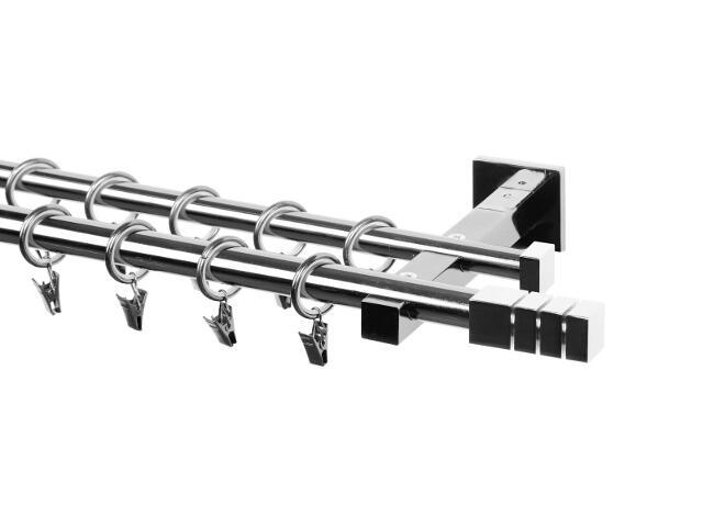 Karnisz Italia podwójny 20/16mm Trio chrom 240 Mardom