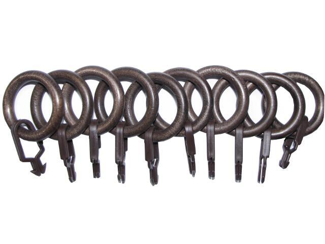 Kółka z zapinką Paola 28mm brąz 10szt Mardom