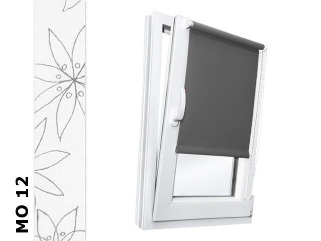 Roleta mini Modern MO 12 biały-szare kwiaty 52x150 Rollomania