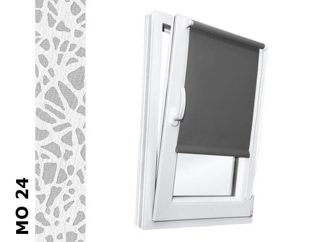 Roleta mini Modern MO 24 biały-transparentne motywy 52x150 Rollomania