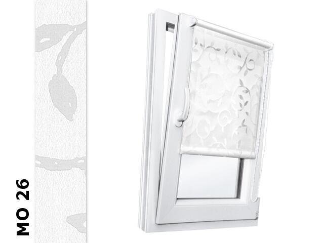 Roleta mini Modern MO 26 biały-transparentne liście 112x150 Rollomania