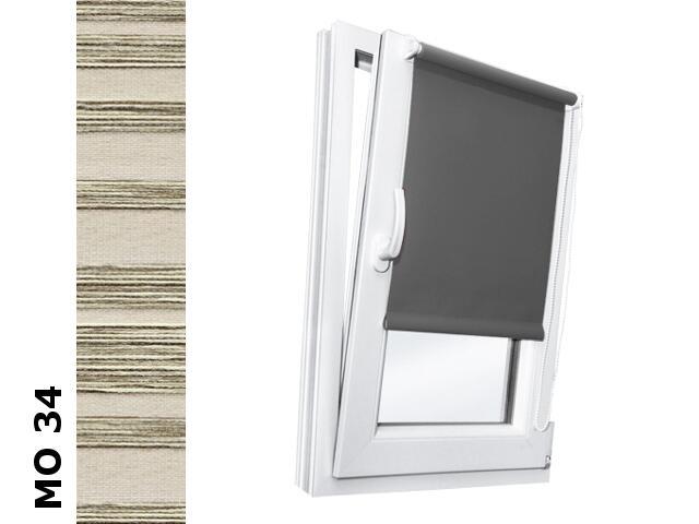 Roleta mini Modern MO 34 orzechowy-transparentne paski 37x150 Rollomania