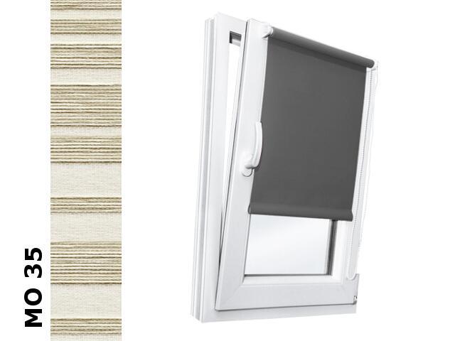 Roleta mini Modern MO 35 kremowy-transparentne paski 72x150 Rollomania