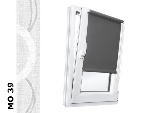 Roleta mini Modern MO 39 biały-transparentne kółka 112x150 Rollomania