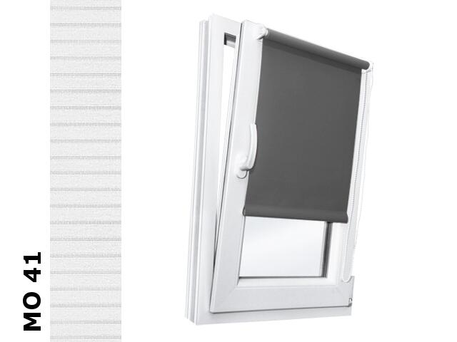 Roleta mini Modern MO 41 biały-transparentne paski 112x150 Rollomania