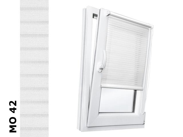 Roleta mini Modern MO 42 biały-transparentne paski 112x150 Rollomania