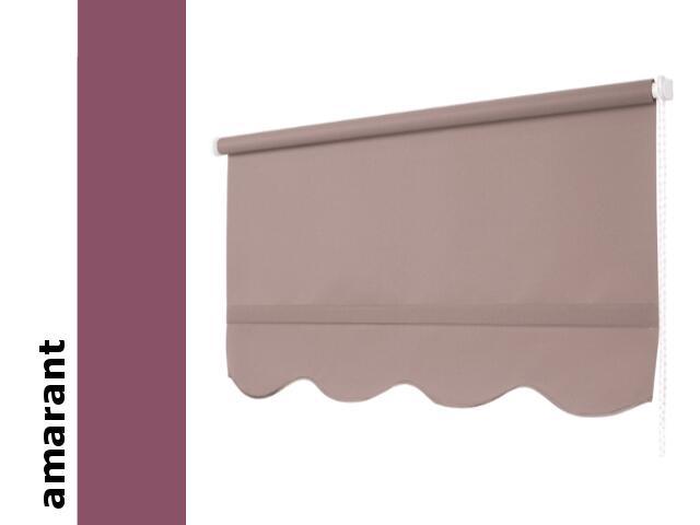 Roleta klasyczna amarant z falą 220x210 Mardom