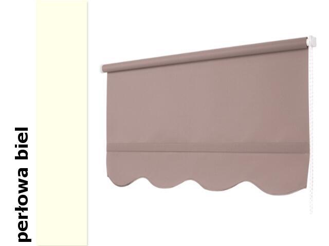Roleta klasyczna perłowa biel z falą 200x210 Mardom