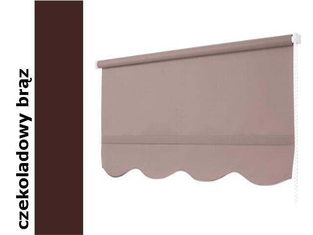 Roleta klasyczna czekoladowy brąz z falą 90x245 Mardom
