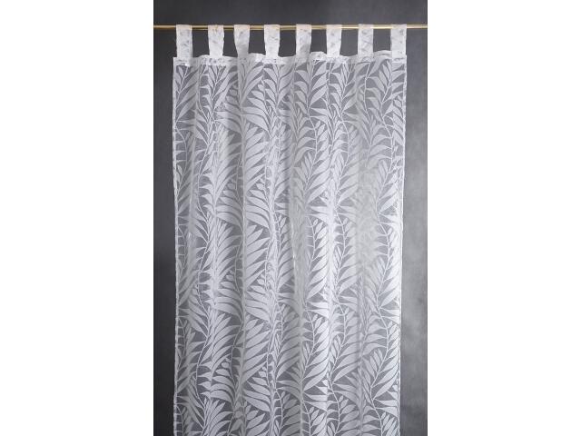 Firana Palme 140x250 biała Domarex