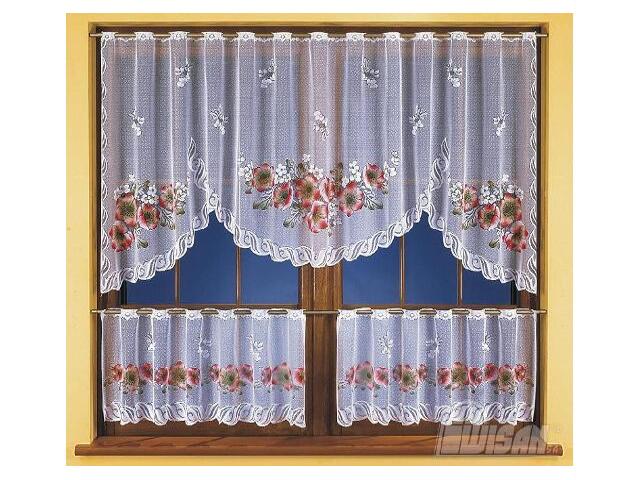 Firana Zosia 3261 250x100 biała malowana Wisan