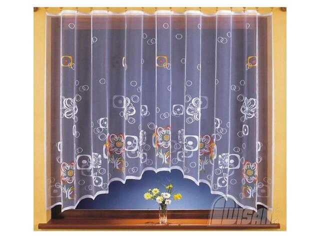 Firana Clea 9862 300x150 biała malowana Wisan