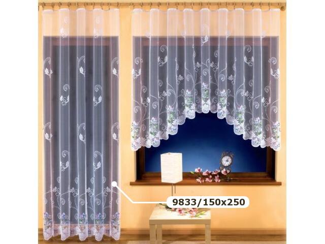 Firana Wiera 9833 150x250 biała malowana Wisan