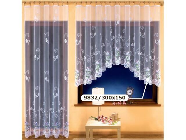 Firana Wiera 9832 300x150 biała malowana Wisan