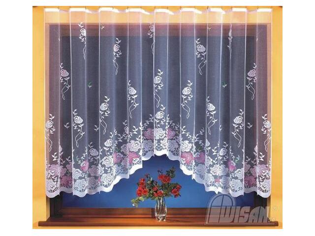 Firana Erika 9701 300x150 biała malowana Wisan