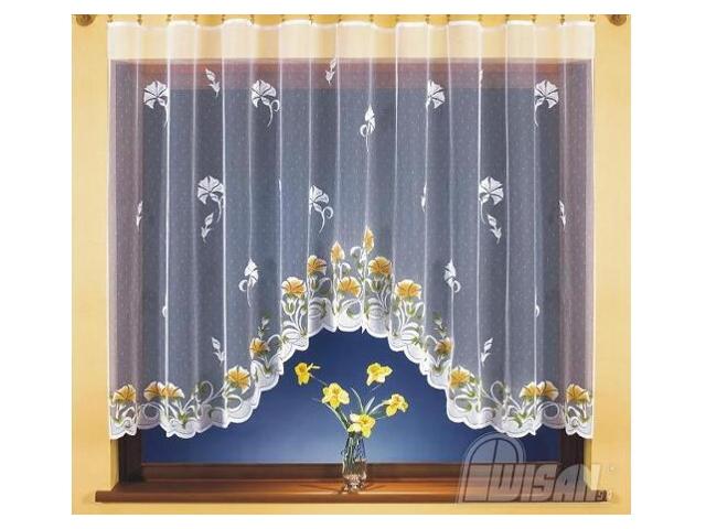 Firana Stefania 9814 300x150 biała malowana Wisan
