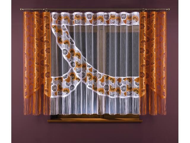 Komplet Pomarańczowy Raj 3329 420x175 biało-pomarańczowy Wisan