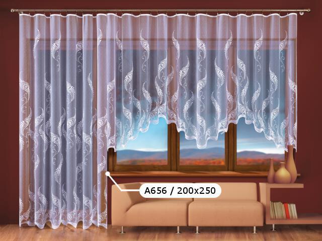 Firana Paprocie II A656 200x250 biała Wisan
