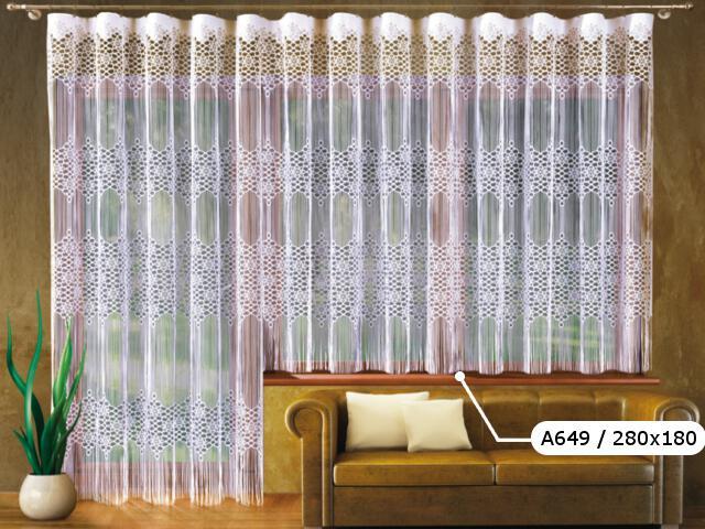 Firana Malaga A649 280x180 biała Wisan