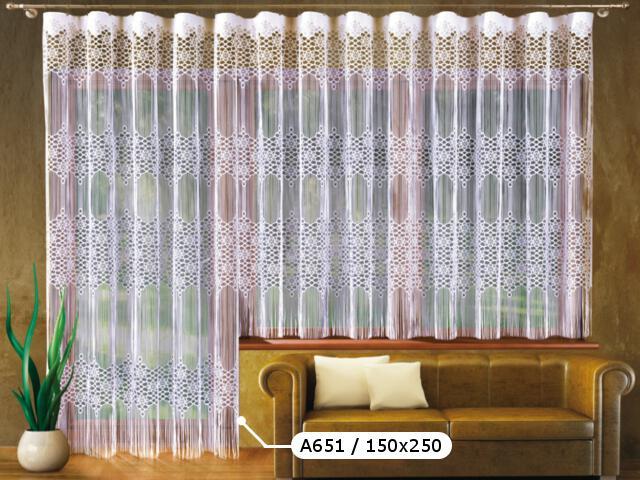 Firana Malaga A651 150x250 biała Wisan