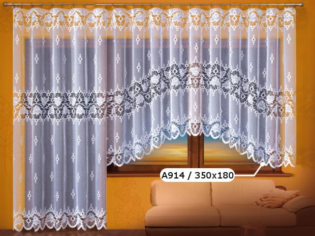 Firana Paulina A914 350x180 biała Wisan
