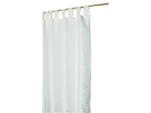 Zasłona Palme 140x250 biały Domarex
