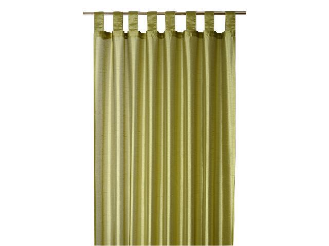 Zasłona Faux Silk 140x250 zielony Domarex
