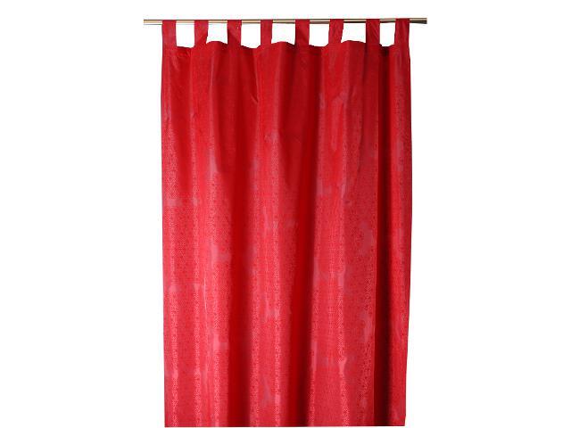 Zasłona Elle 140x250 czerwony Domarex