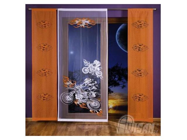 Komplet paneli Motocyklista 3287 200x240 biało-pomarańczowy Wisan