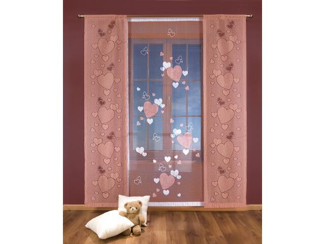 Komplet paneli Serduszka 3327 200x250 biało-różowy Wisan