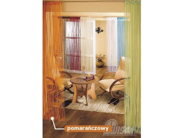 Firana sznurkowa makaron Aga 9725 90x180 pomarańczowy Wisan