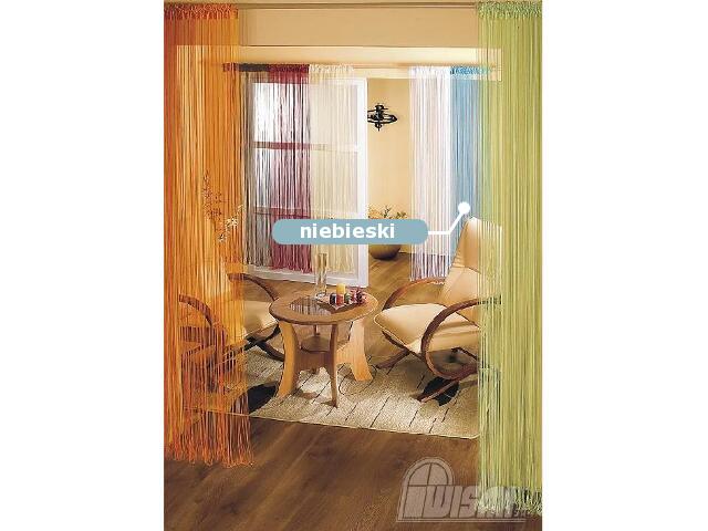 Firana sznurkowa makaron Aga 9723 150x250 niebieski Wisan