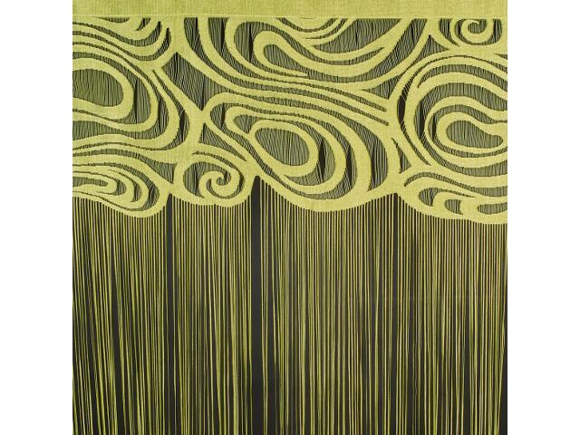 Firana sznurkowa makaron Ela 9846 150x250 oliwkowy Wisan
