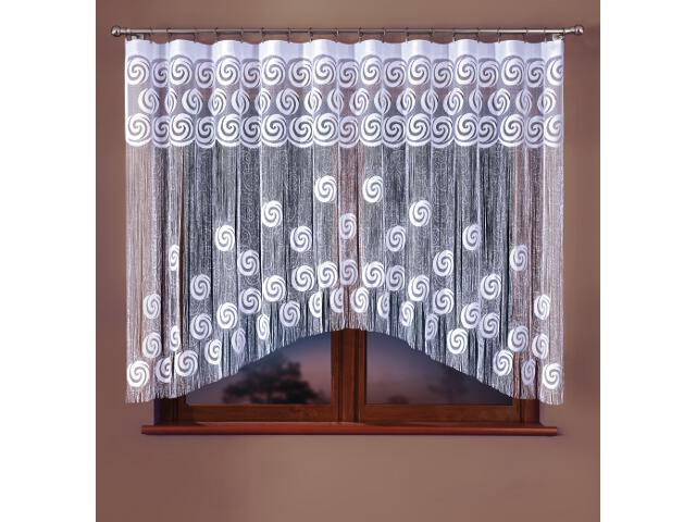 Firana sznurkowa makaron Leonia A906 280x160 biały Wisan