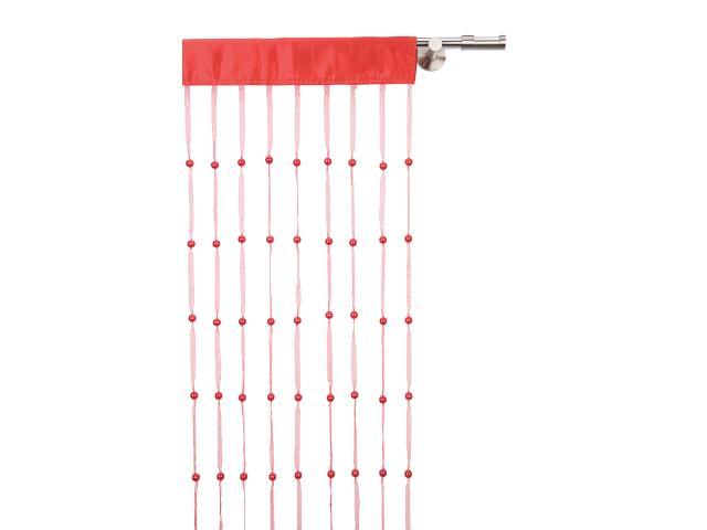 Girlanda koralikowa czerwona 90x200 Mardom