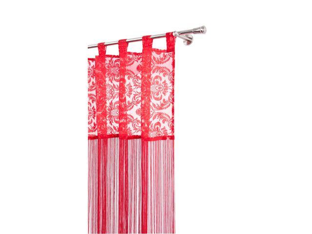 Firana sznurkowa makaron arabeska 160x250cm czerwony Mardom
