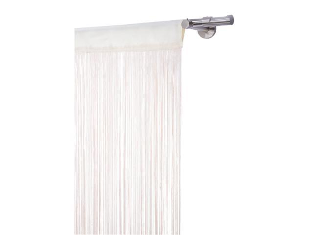 Firana sznurkowa makaron spagetti lux 250x160 biały Mardom