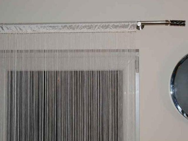 Firana sznurkowa makaron Top Tafta 150x250 kremowy Domarex