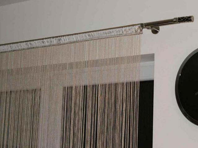Firana sznurkowa makaron Top Tafta 150x250 beżowy Domarex