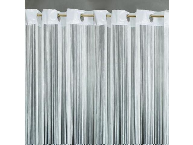 Firana sznurkowa makaron Top Tafta kółka 150x250 biały Domarex