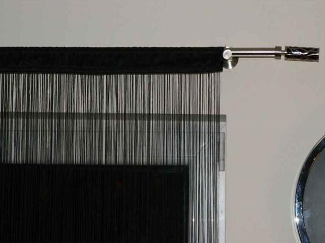 Firana sznurkowa makaron Top Tafta 150x250 czarny Domarex