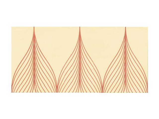 Płytka ścienna Hanabi Beige inserto Geometryk 32,5x65,1 Paradyż