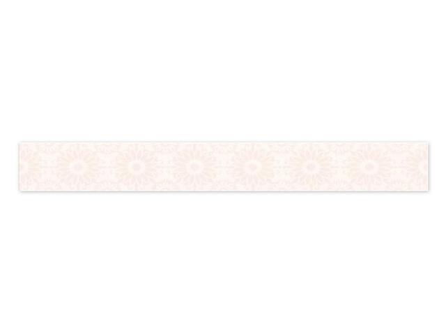 Płytka ścienna Piumetta Bianco listwa drukowana A 7x59,5 Paradyż