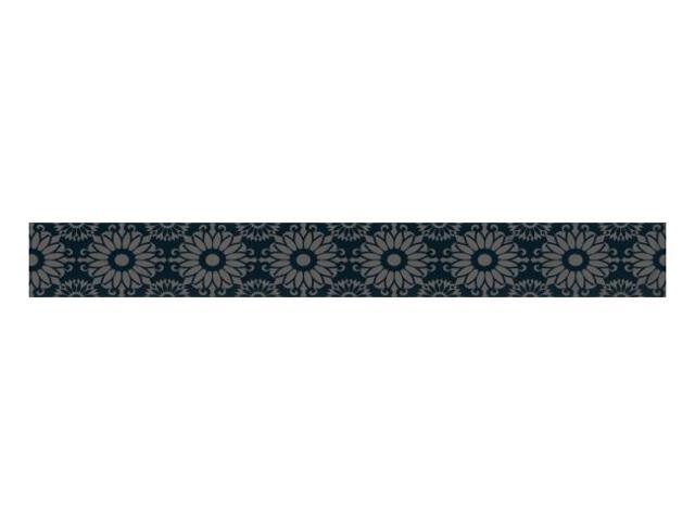 Płytka ścienna Piumetta Nero listwa drukowana A 7x59,5 Paradyż