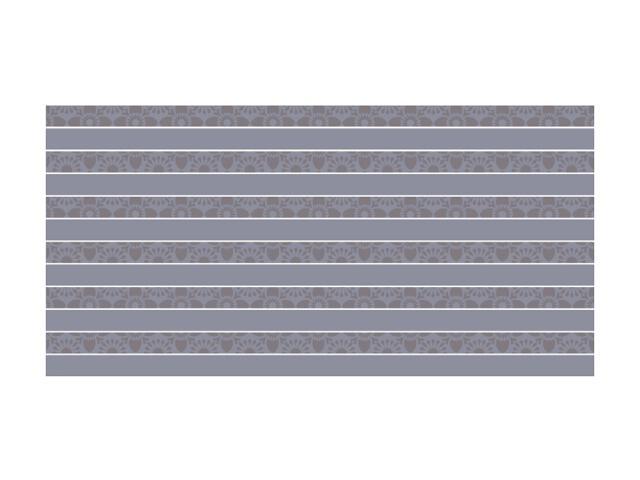 Płytka ścienna Piumetta Grys inserto paski 29,5x59,5 Paradyż
